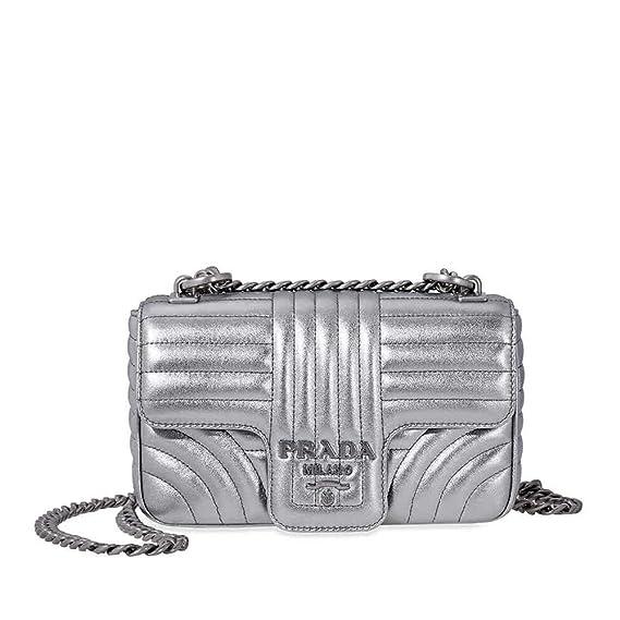 090475292c07 Prada Diagramme Leather Shoulder Bag-Silver: Amazon.ca: Watches