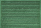 Bungalow Flooring Aqua Shield Broken Brick Light Pet Mat, 17.5 x 26.5'', Green
