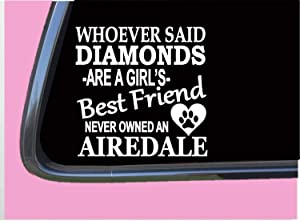 Airedale Terrier Diamonds,Vinyl Window Decals for Bottle Laptop Cars Wall Art Quote Funny Stickers