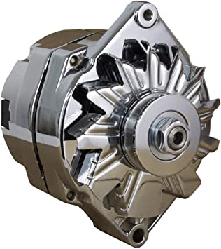 110A CHROME STREET ROD GM HIGH OUTPUT ALTERNATOR FITS 1-ONE WIRE SELF on delco remy alternator wiring, delco car stereo wiring diagram, delco starter wiring diagram, 4 wire alternator diagram, 3 wire alternator diagram, delco alternator schematic, delco generator voltage regulator wiring diagram, 1 wire alternator diagram, delco alternator external regulator wiring diagram, delco alternator internal diagram, delco si alternator wiring, delco cs alternator wiring diagram, gm alternator diagram, delco alternator wiring diagram with gauge, delco remy distributor wiring diagram, delco alternator wiring 1 22s, delco remy regulator wiring diagram, delco radio wiring diagram, delco alternator wiring diagram sfl p, 2 wire alternator diagram,