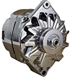 NEW CHROME CHEVY ALTERNATOR FITS 110 AMP 3-WIRE OR 1-ONE WIRE Setup 65-85 SELF EXCITING