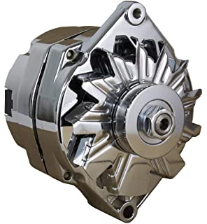 Outstanding Amazon Com New Chrome Chevy Alternator Fits 110 Amp 3 Wire Or 1 One Wiring 101 Archstreekradiomeanderfmnl