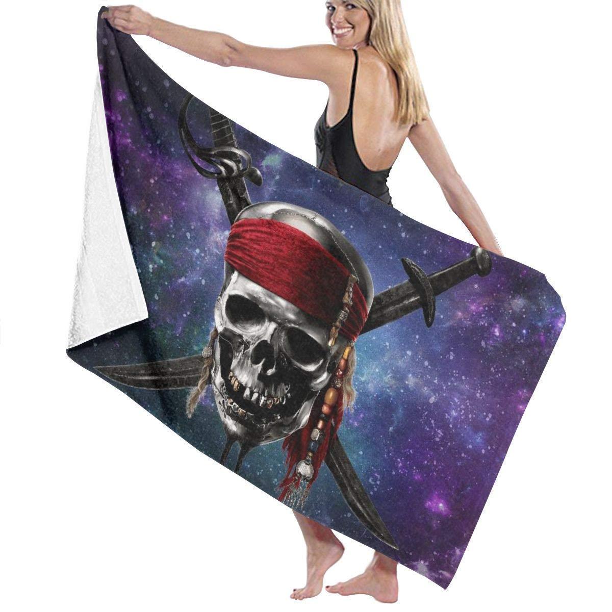 Toalla de ba/ño,Juegos de toallas Pirates of Space Skull Adult Microfiber Beach Towel Oversized 31x51 Inch Fast Dry Eco-Friendly Multipurpose Use Pool Towel for Women Men Hotel Home Ideas decoratio
