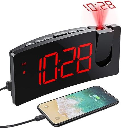 VERSIÓN SIMPLE] Despertador Proyector, Mpow Despertadores ...