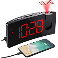 [VERSIÓN SIMPLE] Despertador Proyector, Mpow Despertadores Digitales, Reloj