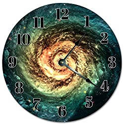 EasySells 10.5 Galaxy Spiral Clock - Large 10.5 Wall Clock - Home Décor Clock