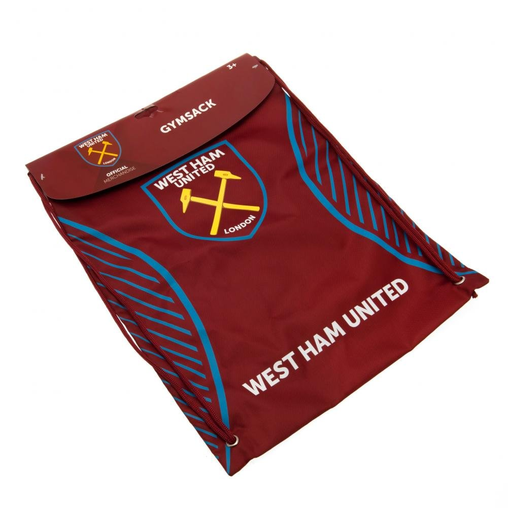 West Ham United F.c Gym Bag Sv Official Merchandise