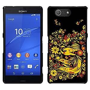 Caucho caso de Shell duro de la cubierta de accesorios de protección BY RAYDREAMMM - Sony Xperia Z3 Compact - Asia Diseño Floral