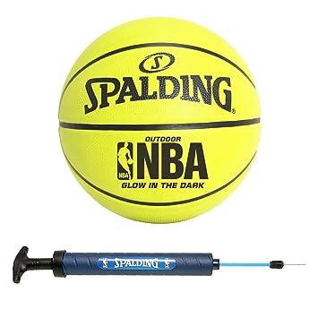 Spalding NBA - Balón de baloncesto para exterior que brillan (28,5 ...