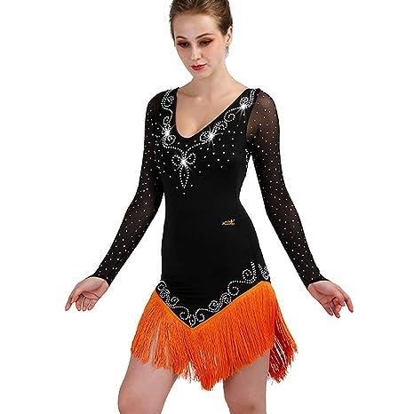 Vestidos de Baile Latino para Mujeres Traje de Baile Latino Falda ...