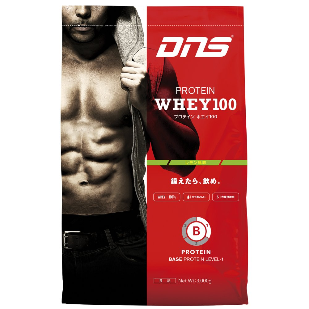 DNS プロテインホエイ100 レモン 3kg B016Q9W6BO   レモン 3000g(3kg)
