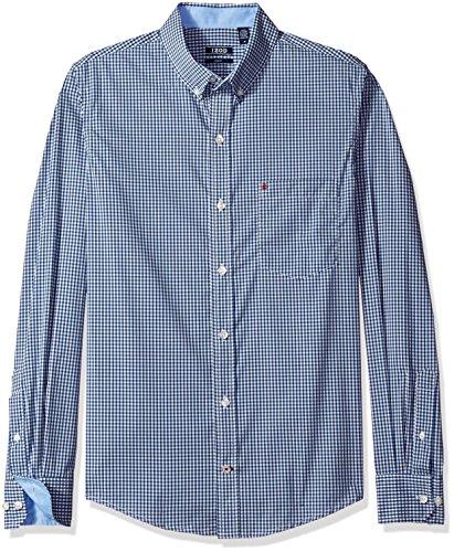 Non Iron Shirt - IZOD Men's Advantage Performance Non Iron Stretch Long Sleeve Shirt, True Blue, X-Large Slim