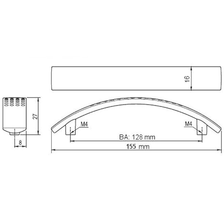 10 x SO-TECH/® Tirador de MuebleDico Acabado Acero Fino Distancia Agujeros 96 mm