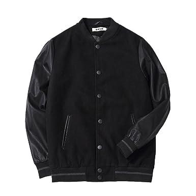 7b8a671d6 PIUPIU Mens Fit Varsity Baseball Bomber Jacket Of Casual Styles PU Leather  Wear (xs)