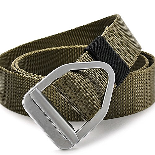 Fairwin Surival Military Style Tactical Rigger Belt Army Trainer Fire Rescue Webbing belt (army (Women Army Uniforms)