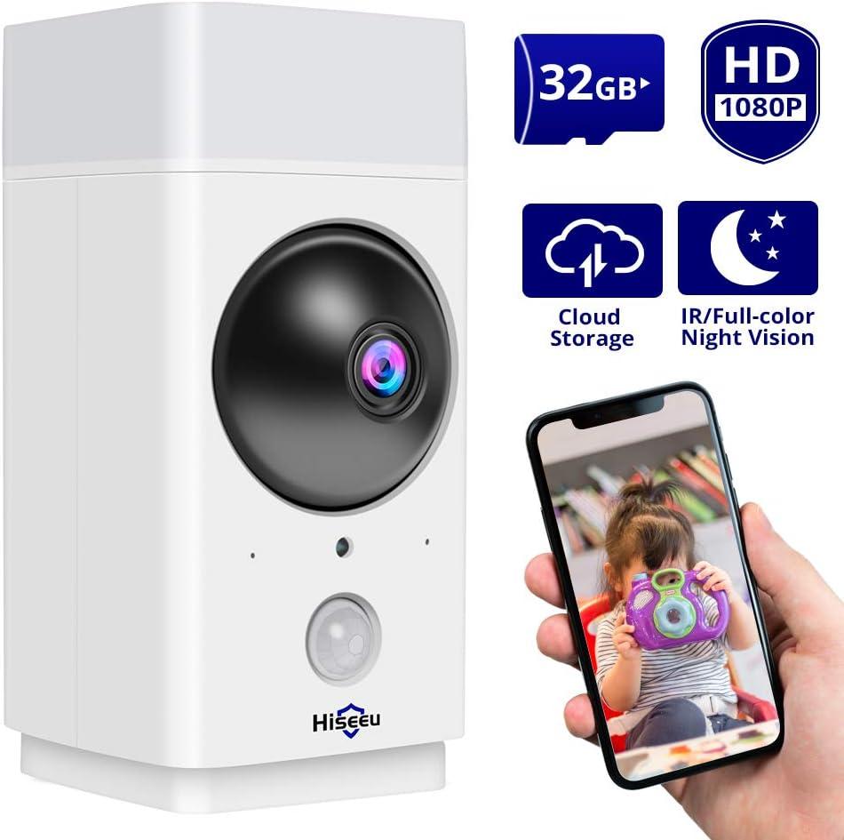 1080P PIR Motion Hidden Light Spy Security Camera 2MP Two Way Audio IR CUT 32GB
