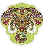 Angda Mandala Elephant Round Beach Towel Fast Dry Absorbent Blanket Beach Mat Beach Throw Round Meditation Yoga Mat Sunscreen Shawl Wrap Skirt (Elephant 02)