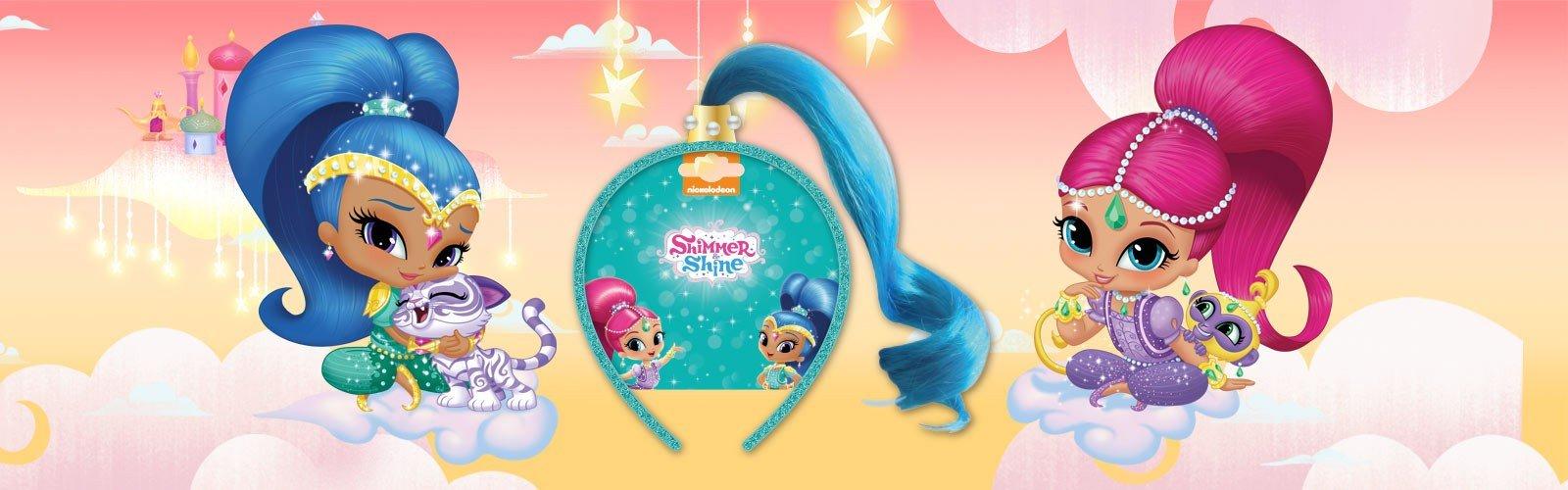 Shimmer & Shine Dress Up Shine blue Fake Hair Aliceband Hairband