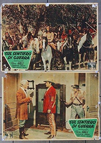 Brave Warrior (1952) Original Italian Fotobusta Movie Poster Two Different 14x19 CHRISTINE LARSON JAY SILVERHEELS JON HALL MICHAEL ANSARA Film Directed by SPENCER GORDON BENNETT