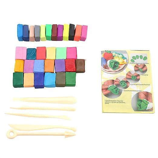 Hilitand Kit de Arcilla polimérica de 32 Colores Horno horneado ...