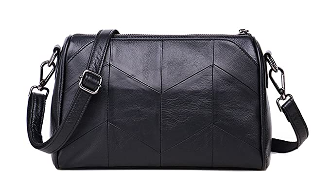 a0f36e89b3 Ladies Genuine Leather First Layer Cowhide Small Shoulder Messenger Bag -  Black