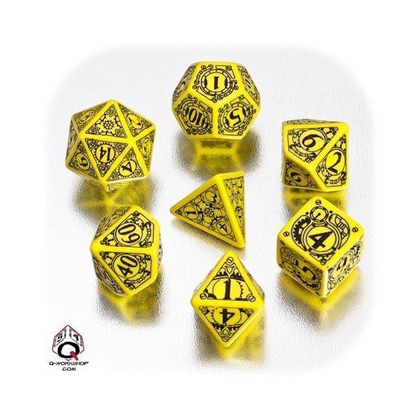 Steampunk Dice Yellow/Black(7) by Q-Workshop 4