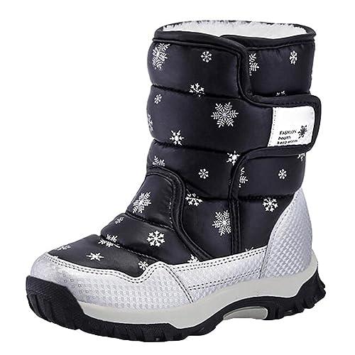 Hibote Stivali da Neve Bambina , Stivali Invernali Racchette da Neve per  Bambini con Fodera Calda Amazon.it Scarpe e borse