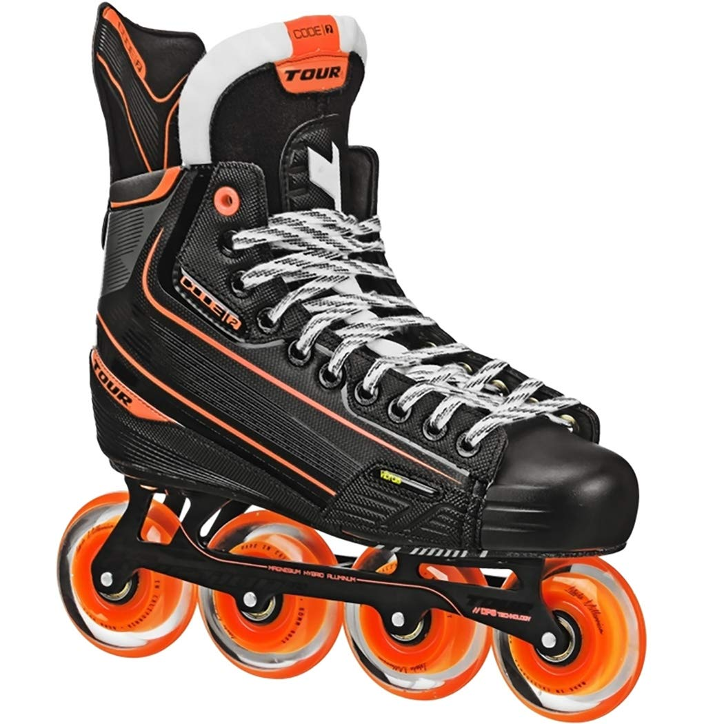 Tour HOCKEY CODE 2 SENIOR INLINE HOCKEY SKATES BLACK SIZE 4 by Tour (Image #1)