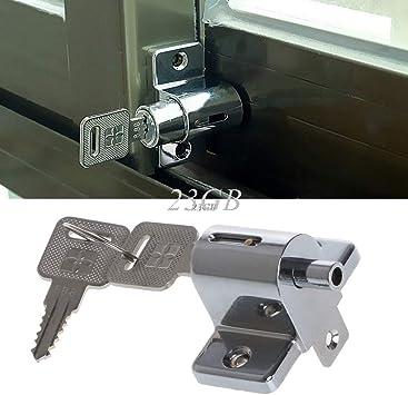 J24 - Cerrojo de seguridad para puerta corredera de jardín (zinc): Amazon.es: Bricolaje y herramientas