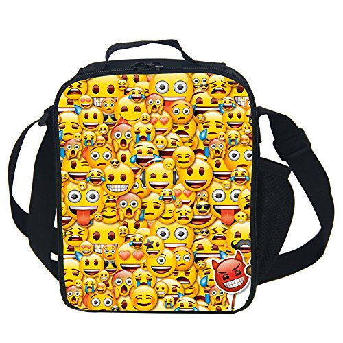 Cute Emoji Lunch Bag Portable Insulated