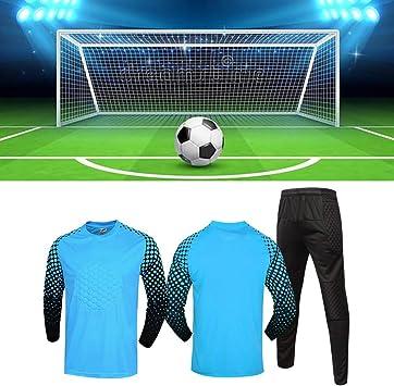 Jersey de Uniforme de Portero de Fútbol Juego de Camisas ...