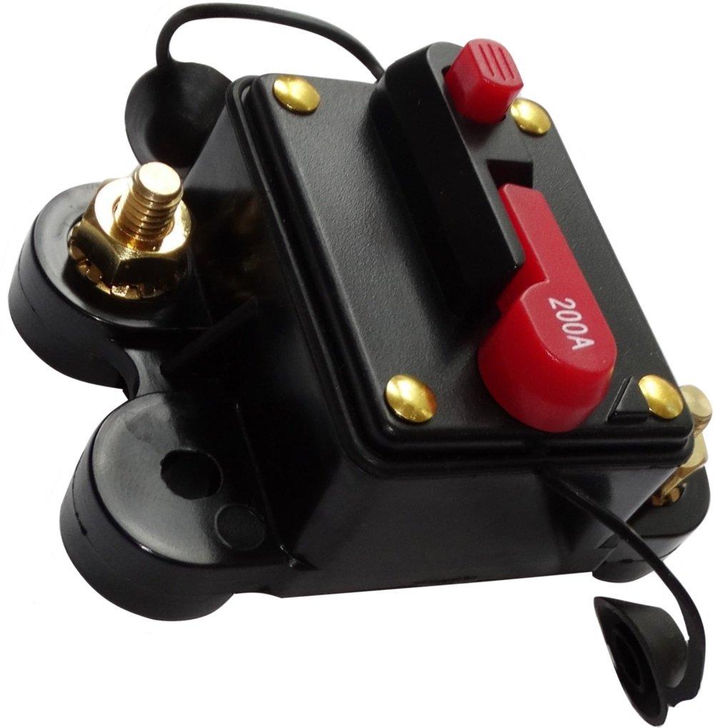 AERZETIX 200A 12V 24V 32V 48V fusible automatique disjoncteur 78x52x37mm IP67 ampli amplificateur auto voiture C14615
