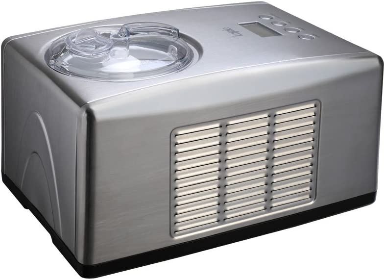 Lopie Stainless Steel Ice Cream Maker with Built-in Compressor without Pre-Cooling, LCD Digital Display