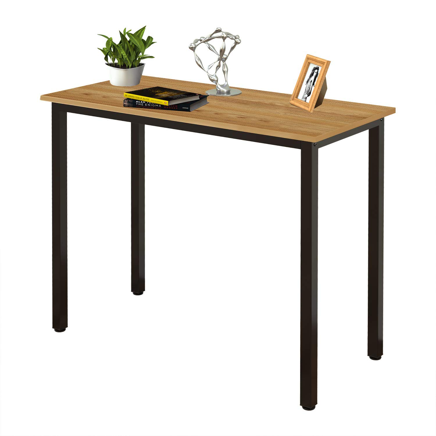 Need Small Computer Desk 31.5 inches Sturdy Writing Desk for Small Spaces, Small Desk Teens Desk Study Table Laptop Desk, Teak AC3-8040-BB by Need