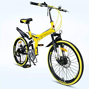 Grimk Bicicleta De Montaña Plegable Hombre,Mountain Bike Btt,Bici Unisex Adultos Ligera,Cuadro De Aluminio,7 ...