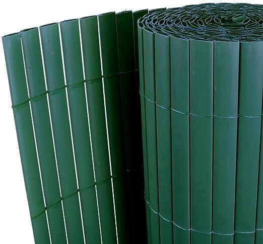 vidaXL PVC valla doble cara verde Privacidad de jardín Robusto Cerca de jardín: Amazon.es: Jardín