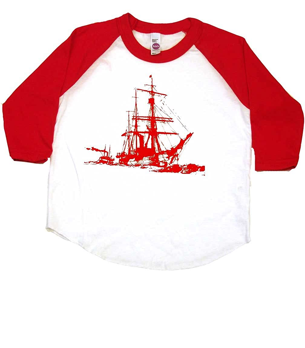 Shipwreck Vintage Toddler Clothes Boy Or Girl T-Shirts Cool Baby Gift