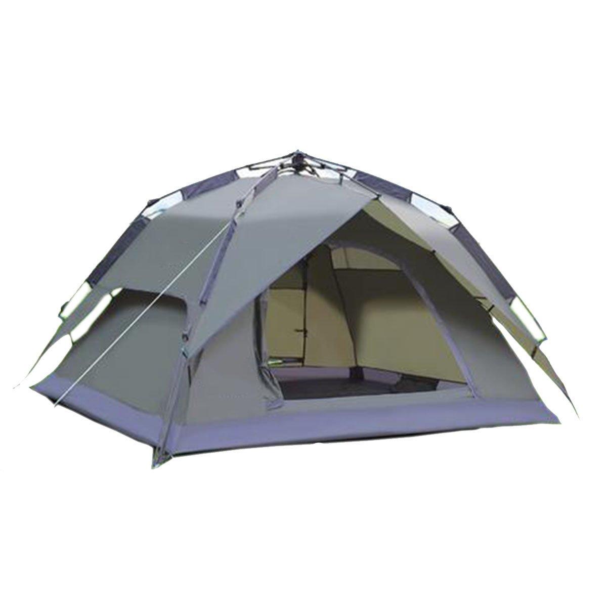 TZQ Wüste  Herrenchen Automatische Anti-Regen Camping Zelte,Grau