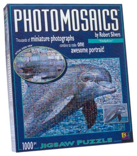 Photomosaic Dolphin Jigsaw Puzzle - 1000pc Puzzle Jigsaw Photomosaics