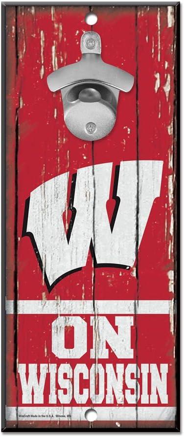 WinCraft NCAA Unisex-Adult 5x11 Wood Sign Bottle Opener