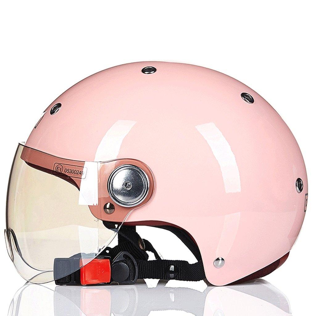 DGF ヘルメット電動バイクスケート安全セミカバー春夏軽量レトロ男性と女性スポーツアンチコリジョンヘルメットマルチカラー通気性 (色 : H h, サイズ さいず : L l) B07FVYPFXZ L l|H h H h L l