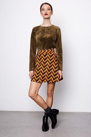 Compañia Fantastica Panama Skirt Falda Casual, Multicolor (Print ...