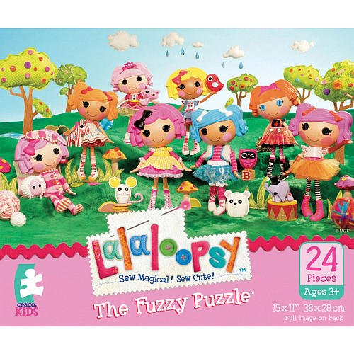 Fuzzy Puzzle 24-Piece - Lalaoopsy Spot Splatter Splash (Puzzle Ceaco Fuzzy)