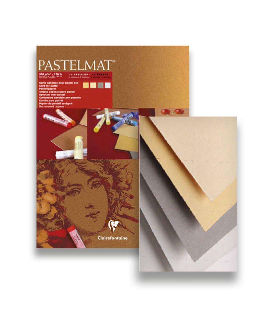 Clairefontaine 96017C Blocco Pastelmat, 24 x 30 cm, 12 Fogli, Colori Assortiti C Rhodia Jardinage