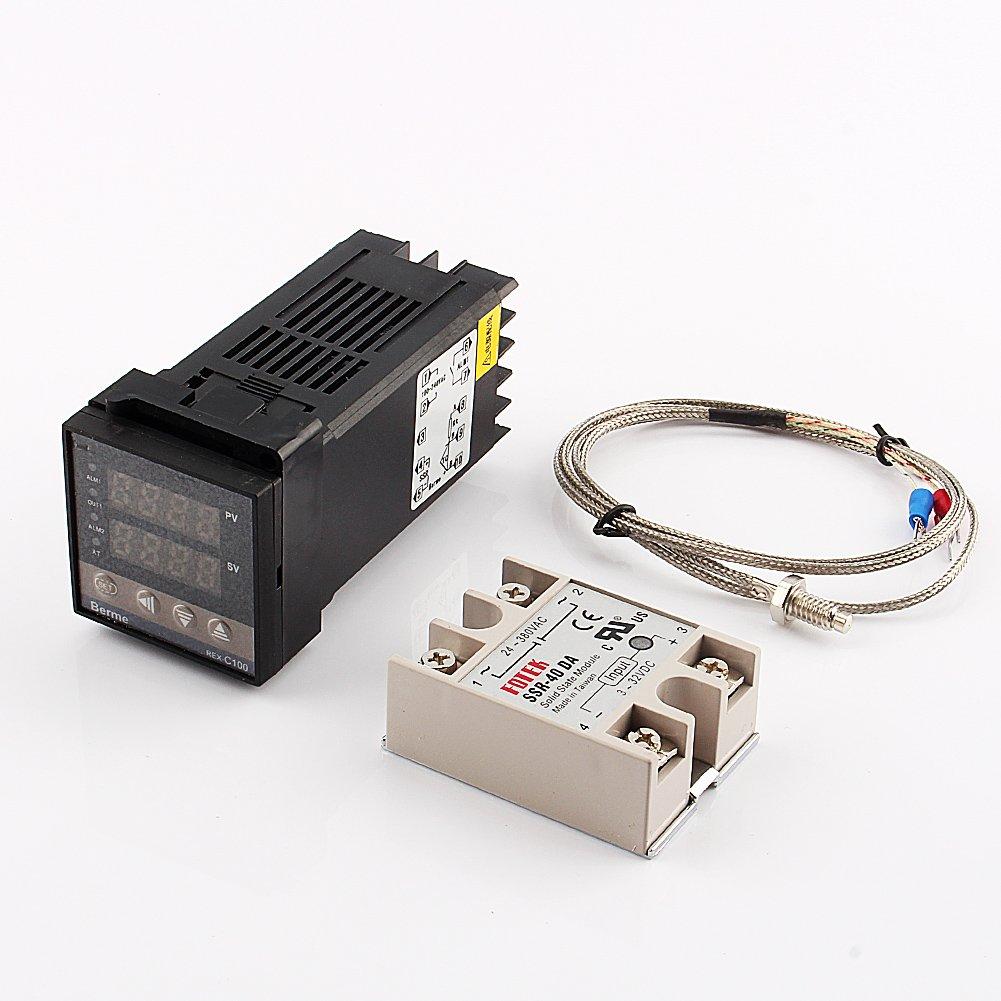 Yosoo Digital PID Temperature Control + 40A SSR + K Thermocouple