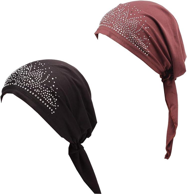 hikong - 2 paños musulmanes para mujer, turbante indio, turbante ...