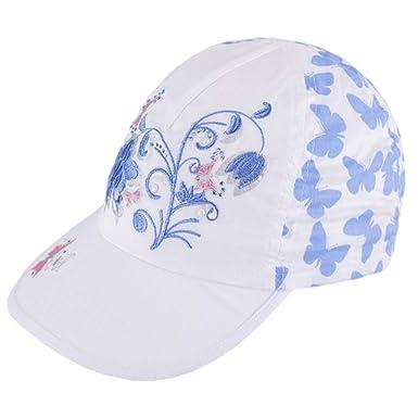 Galeja Tutu M/ädchen M/ütze Cap Schirmm/ütze Fr/ühling Sommer Blumen-Design Schmetterling