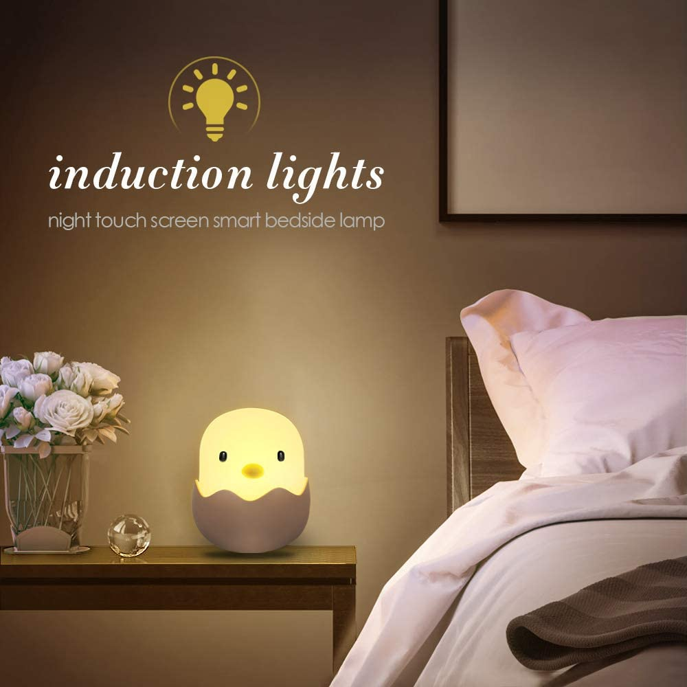 Nachtlicht Kinder Silikon,Nachttischlampe f/ür Babyzimmer Schlafzimmer LED Nachtlampe Warmwei/ß mit Touch Schalter Nachtleuchte f/ür Lesen Schlafen und Entspanne Schlafen und Entspanne