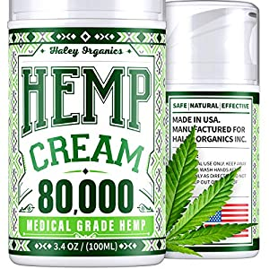 Hemp Cream – Pain Relief Cream – 1,300,000 – Natural Hemp Cream for Arthritis, Muscle Pain Relief – Made in USA – Hemp…