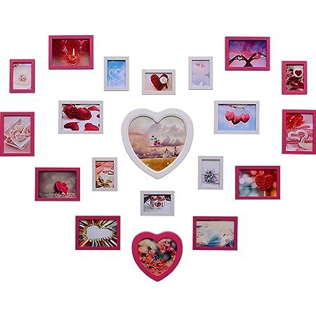 JXJJD Foto Moderna decoración de la Pared Amor en Forma de corazón Creativa Foto Marco Pared combinación Chica habitación diseño Foto Marco Pared Foto Pared ...